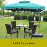3M Square Outdoor Umbrella Green