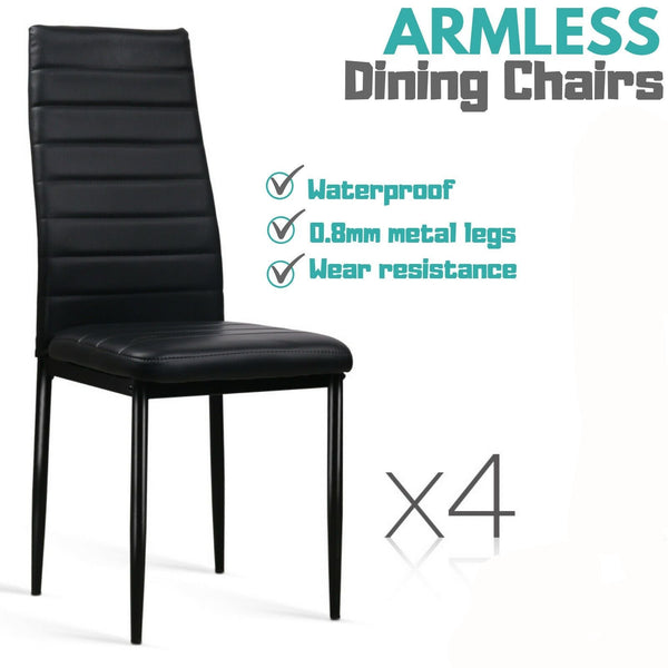 4x Deluxe Armless Dining Chairs