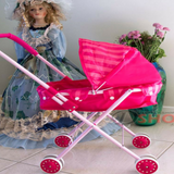 Toy Pram/Stroller and Baby Doll (Pink)