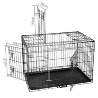 36 Inch Folding Pet Cage with Cover Blue