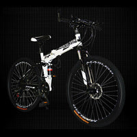21 Speed Dual Suspension Foldable Mountain Bike