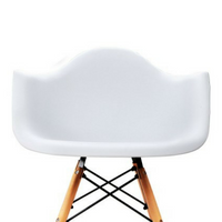 Set of 2 Replica Eames Cafe Chairs White