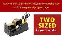 Heavyweight Desktop Sticky Tape dispenser with Compartment