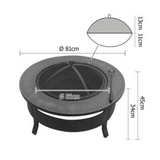 Portable Outdoor Round BBQ Roasting Fire Pit