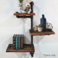 DIY Adjustable Metal Pipe Shelf