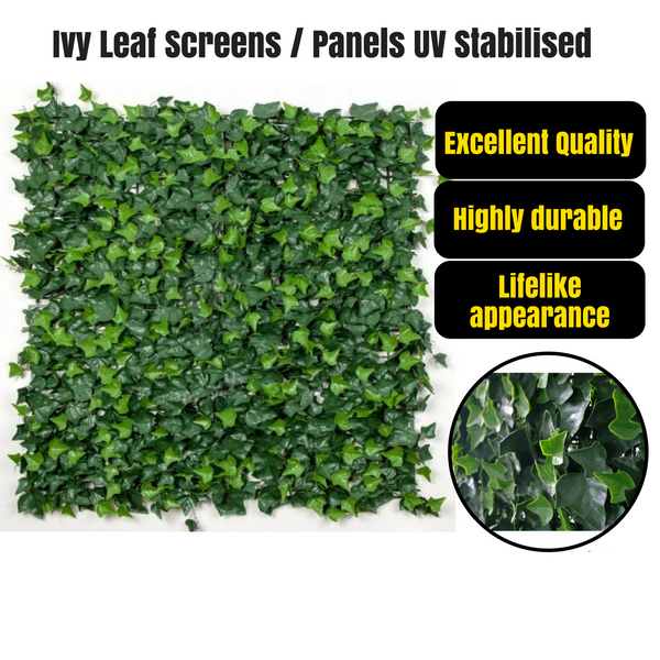 Artificial Ivy Hedge Leaf Screens Walls