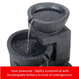 3-tier Solar Powered LED Water Fountain