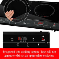 Electric Kitchen 2 Burner Black
