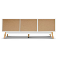 120cm Wooden Entertainment Unit - White & Wood
