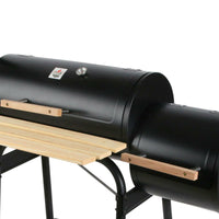 2-in-1 Offset BBQ Smoker