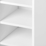 Two-Door Shoe Cabinet/Organizer White