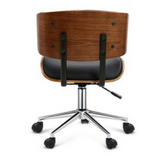 Executive Walnut PU Leather Office Chair