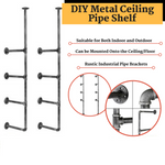DIY Metal Ceiling Pipe Shelf
