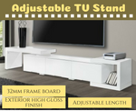 High Gloss TV Stand Entertainment