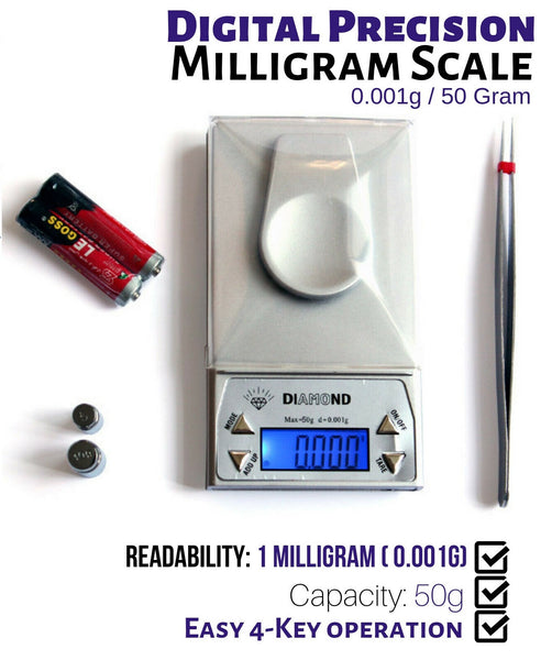 Diamond Digital Precision Milligram Pocket Scale