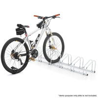 Durable 6-Bike Storage Rack - White