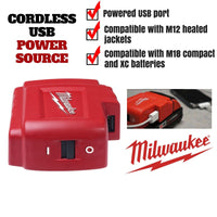 Cordless USB Power Source Charging
