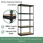 5-Tier Adjustable Shelving