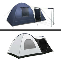 Weisshorn 8 Person  Swag Camping Dome Tent - Navy & Grey
