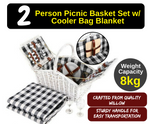 Outdoor 2 Person Picnic Basket