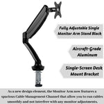 Fully Adjustable Single Monitor Arm Stand