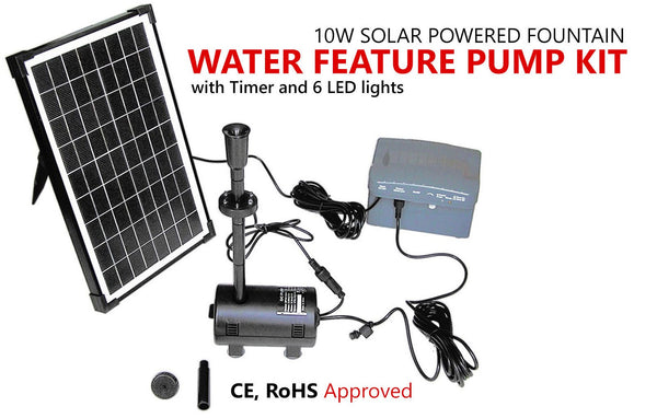 Solar Power Outdoor Fountain