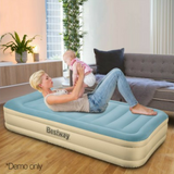 Single Size Inflatable Air Bed with Built-in Pump & Carry Bag