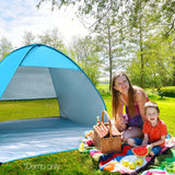 4-Person Pop-up Camping Tent - Blue