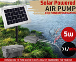 Solar Powered Pond Oxygenation DC Air Pump