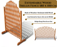 Extendable Wood Trellis Fence