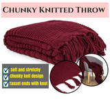 Chunky Knitted Throw Blanket
