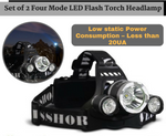 LED Flash Torch Headlamp