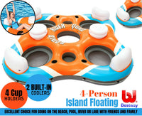 4-Person Inflatable Island Floating