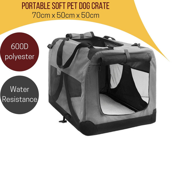Foldable Pet Soft Dog Cat Carrier Crate