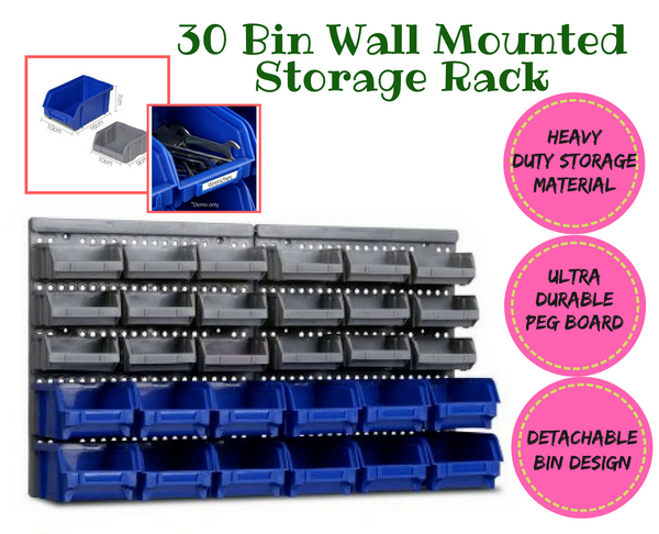 30 Bins Wall Mounted