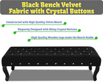 Black Bench Velvet Fabric