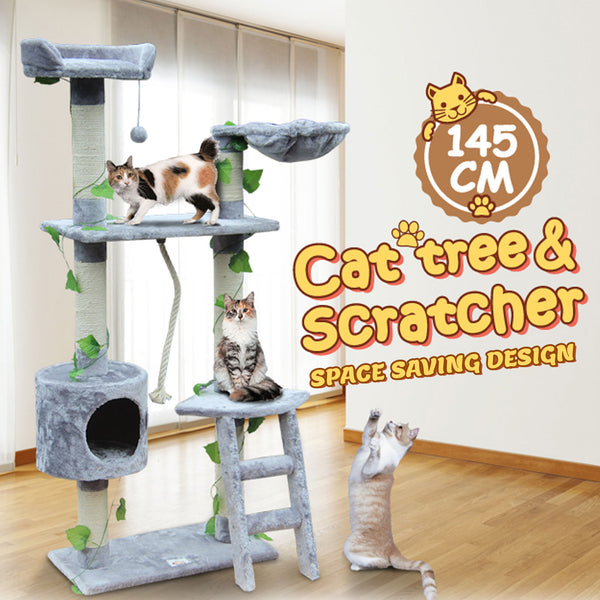 145cm Cat Post Pole Scratching Tree House