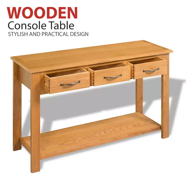 Large Wooden Console Table