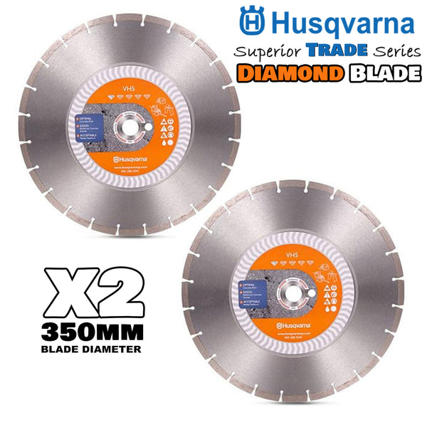 2 Husqvarna 350mm Diamond Blade