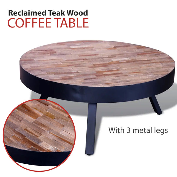 Round Coffee Table Reclaimed Teak