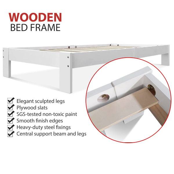 Wooden Bed Base Frame Single Size