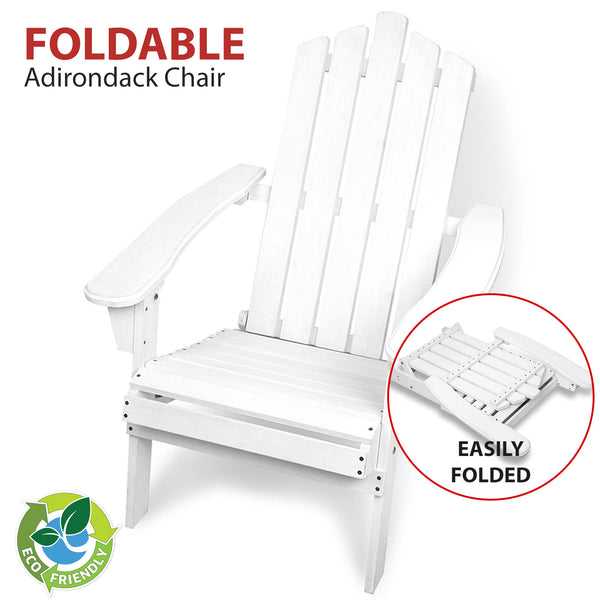 Outdoor Foldable Garden Chair White