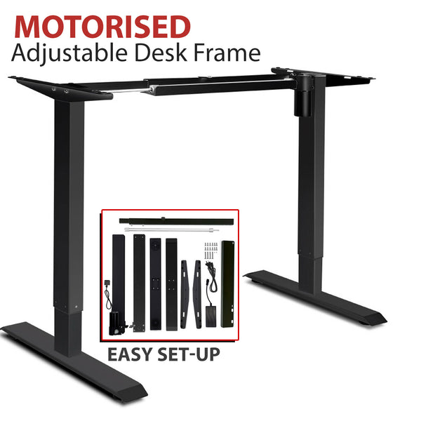 Motorised Adjustable Desk Frame Black