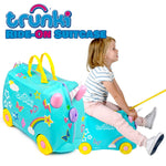 Kids Ride-On Suitcase Aqua