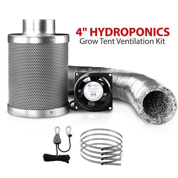 4 Inch Hydroponics Grow Tent Ventilation Kit