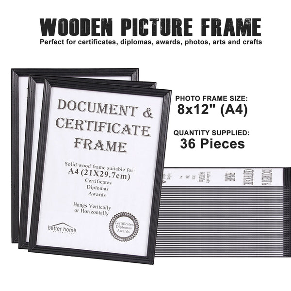 A4 Wooden Picture Frames (36 Piece)