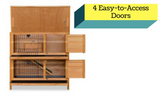 Wooden Double Storey Pet Hutch