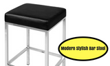 Set of 2 Modern Kitchen Bar Stool Black