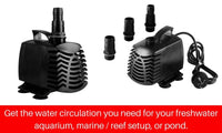 2500LP Aquarium Fountain Water Pump