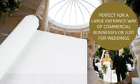 Wedding Aisle Runner Plain White